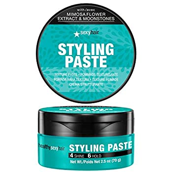 SexyHair Healthy Styling Paste Texture Paste 2.5 Oz   Medium Pliable Hold and Control   Satin Finish   All Hair Types
