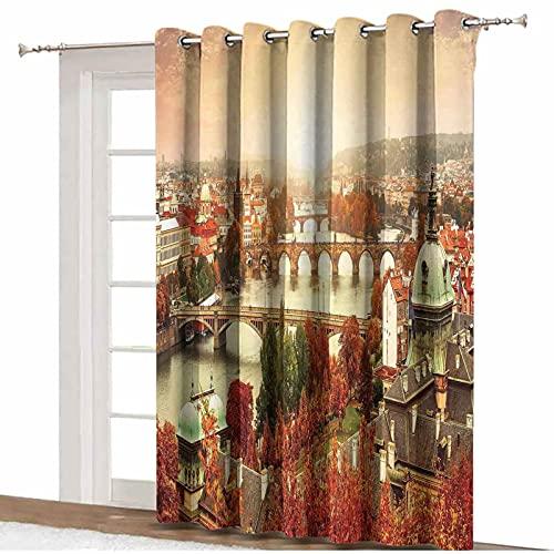 ousente Cortinas opacas con aislamiento térmico, 255 cm x 275 cm, para puerta de cristal corrediza de patio