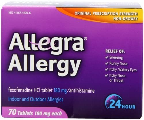 Allegra Adult Sales Soldering results No. 1 24 Hour Allergy 140 180Mg Tablets