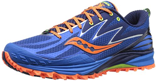 Saucony Mens Peregrine 5-M, Blue/Orange, 9 M US
