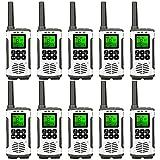 Retevis RT45 Walkie Talkie, Funkgerät Set Lizenzfrei 16 Kanäle, Wiederaufladbar USB Ladekabel Mit Kopfhöreranschluss Walkie Talkies für Schul Hotel(10er)