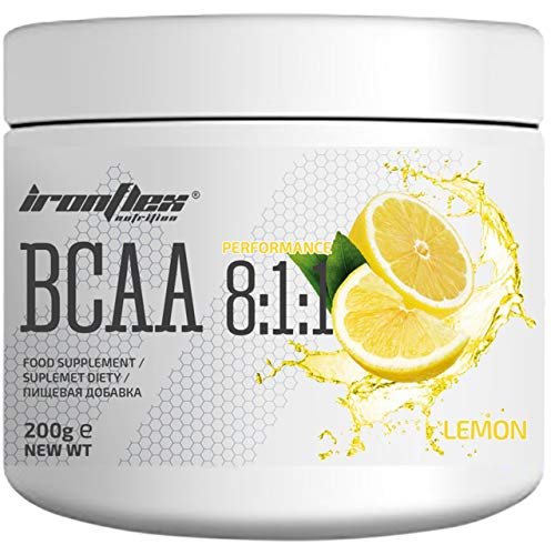 IronFlex BCAA 8:1:1-1 Pack - Branched Chain Amino Acids in Powder - Muscle Regeneration - Anticatabolic (Lemon, 200g)