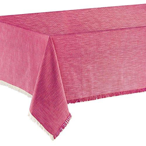 Winkler - Nappe de table jet - 100% coton - Tissu lavable, anti taches et déperlant - Finition frangée