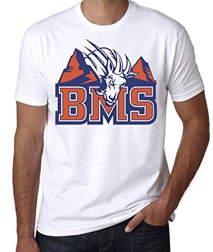 Blue Mountain State 'BMS' T-Shirt, Men's (L - Male) White