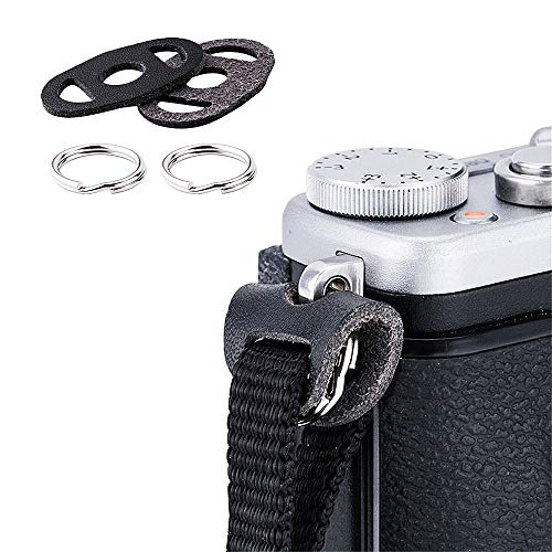JJC Camera Strap Eyelet Split Adapter O Ring & Leather Protector Piece for Fujifilm X-T30 X-T3 X100F X100T X-Pro2 X-T2 X-T1 X-T20 X-T10 Sony A9 A7III A7RIII A7R A7S A7 A6500 A6400 A6300 A6000 RX100