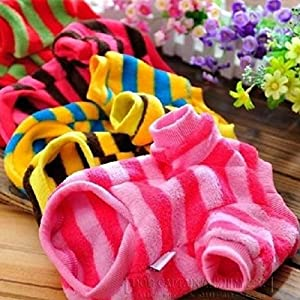 Bazaar Adorable Colorful Stripes Pet Dog Colorful T-Shirts