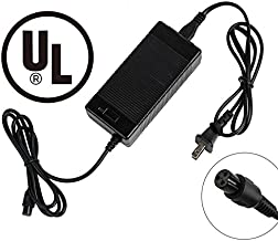 EVAPLUS UL 42V 1.5A AC/DC Charger PowerFast 3-Prong Inline Connector for 36V Pocket Mod, Sports Mod Lithium Battery, Battery Charger for Millet Electric Scooter
