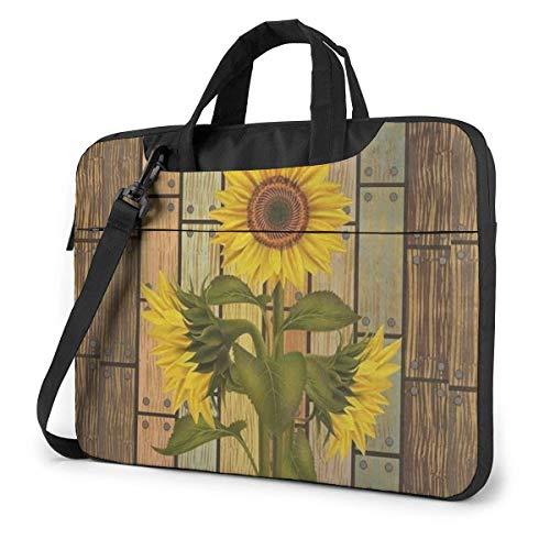 Sun-flowers Leaves Laptop Shoulder Bag Compatible Laptop Ultrabook Carrying Handbag With Strap,