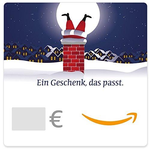 Digitaler Amazon.de Gutschein (Weihnachtsmann im Kamin)