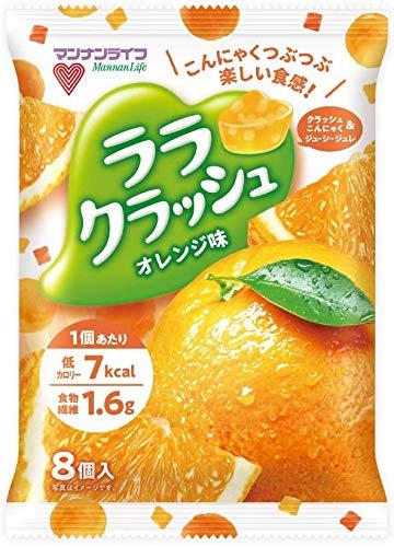 『マンナンライフ ララクラッシュ 5種(オレンジ味・ぶどう味・マスカット味・ソーダ味・レモネード味) 合計5袋』のトップ画像