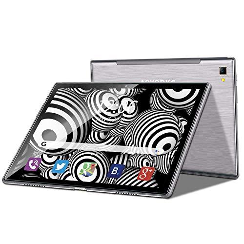 Tableta Android 9.0 Táctil de 10 Pulgadas Ocho-Core4GB RAM 64GB ROM / 256 GB,Cámara 5MP+8MP /WiFi /GPS/ Type-C /8000mAH Batería/Doble Tarjeta SIM Tableta de Llamada(Gris)