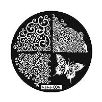 DIYネイルアート画像スタンピングプレートマニキュアテンプレート9スタイルスタンピングプレートマニキュアテンプレートDIYプレートキット(シルバー、)