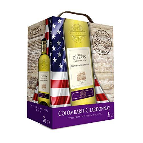 Bag-in-Box - 2018 Vin de Californie Colombard-Chardonnay - Western Cellars - USA - Central Valley - Weißwein, trocken, Box mit:1 Box