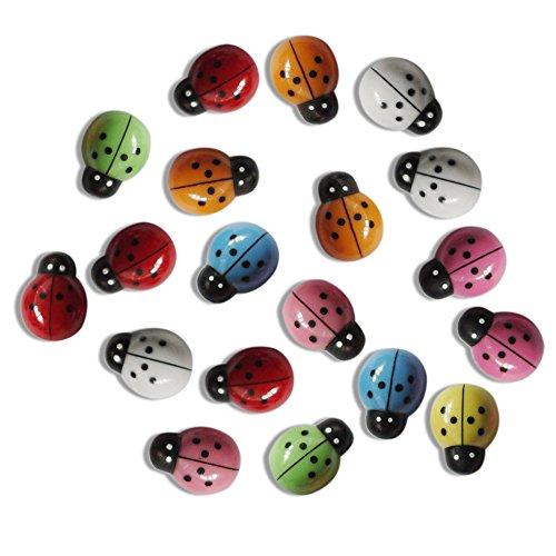 Swiduuk 100 pcs Mini 3d Plastique Coccinelle Stickers muraux Home Decor Kids Toys DIY Ladybug Paysage Décorations de jardin