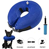 SlowTon Inflatable Dog Recovery Collars Cones, Soft Adjustable Comfy Quick Release Dog Donut