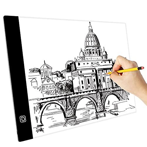 A3 LED Tavoletta Luminosa, Ultrasottile Lavagna Luminosa per Disegnare
