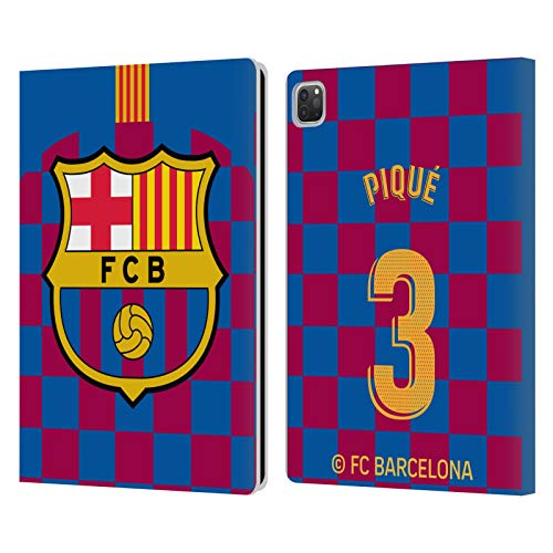 Head Case Designs Oficial FC Barcelona Gerard Piqué 2019/20 Jugadores Kit Local Grupo 1 Carcasa de Cuero Tipo Libro Compatible con Apple iPad Pro 12.9 (2020)