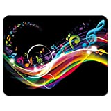 Meffort Inc Standard 9.5 x 7.9 Inch Mouse Pad - Rainbow Music Note
