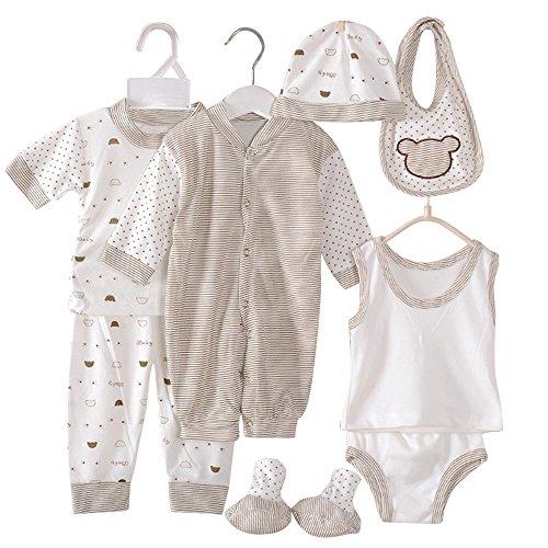 Charming-Life4U Wocharm ubranka dla noworodka dziewczynki chłopiec rosną dla obu płci kombinezony dla niemowląt 5 szt. lub 8 szt.