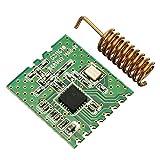 Unabhängige 64 Byte FIFO für TX & RX Puffer Paketbehandlung inklusive Adresserkennung Wide Betriebsspannung 2 ~ 3.6V Unterstützung Wake-On-Radio Lieferinhalt: 1 x CC1101-868MHz HF-Modul