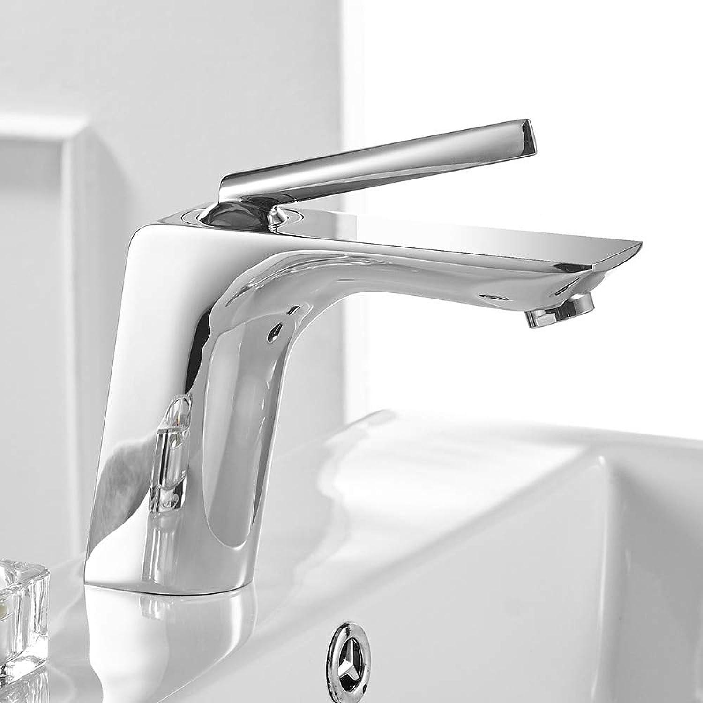 Beckenhahn Moderne Weie Chrom-Messing-Bad Waschbecken Einhand-Loch-Toilettenbade-Wasserpumppapier Chrom