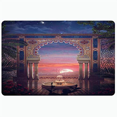 Zome Lag Badezimmerteppich,Fußabtreter,50X80CM,Bodenmatte,Teppich,Duschmatte,Arabian Craft Classic Mosaic Historischer Pool Innentüren Design Interiors Fliesen Pflaster