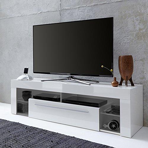 trendteam SC85001 TV Möbel Lowboard, BxHxT 153 x 44 x 44 cm, Weiss Hochglanz - 3