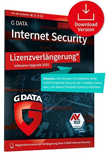 G DATA Internet Security 2020 Upgrade/Lizenzverlängerung, 3 Geräte - 1 Jahr, Digitaler Code, PC, Mac, Android, iOS Virenschutz