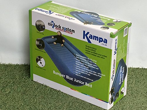 KAMPA AIRLOCK BUMPER BLUE JUNIOR BED/AIRBED CAMPING/CAMP EQUIPMENT NEW by OV