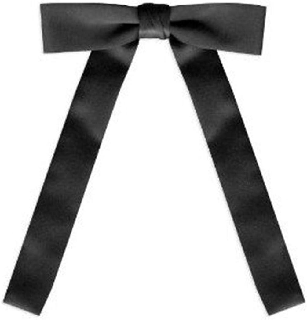 TopTie Black Satin Western String Bow Tie