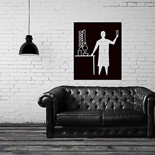 Chemiker Im Labor Wandaufkleber Aufkleber Design Chemie Aufkleber Wand Home Schlafzimmer 57X70Cm