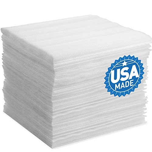 Foam Wraps, DAT 12' x 12' Foam Wrap Sheets Cushioning for Moving Storage Packing and Shipping Supplies, 50-Pack (White) (B0742Y1X9Y)