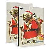 Robe de Noël Master Yoda Case Fit Tablet iPad air1 / 2 9.7 'avec Auto Sleep/Wake Ultra Slim Lightweight Stand Housse en cuir