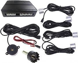 $41 » SATMW Car Reverse Parking Radar System Car Parking Reverse Backup Radar Sound Alert Backing Radar with 4 Parking Sensors