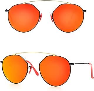 BNUS - anteojos de sol de vidrio natural con diseño de puente