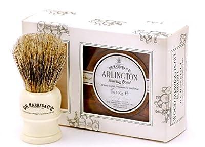 D R Harris Arlington Shaving Bowl and Shaving Brush Gift Set - Mahogany
