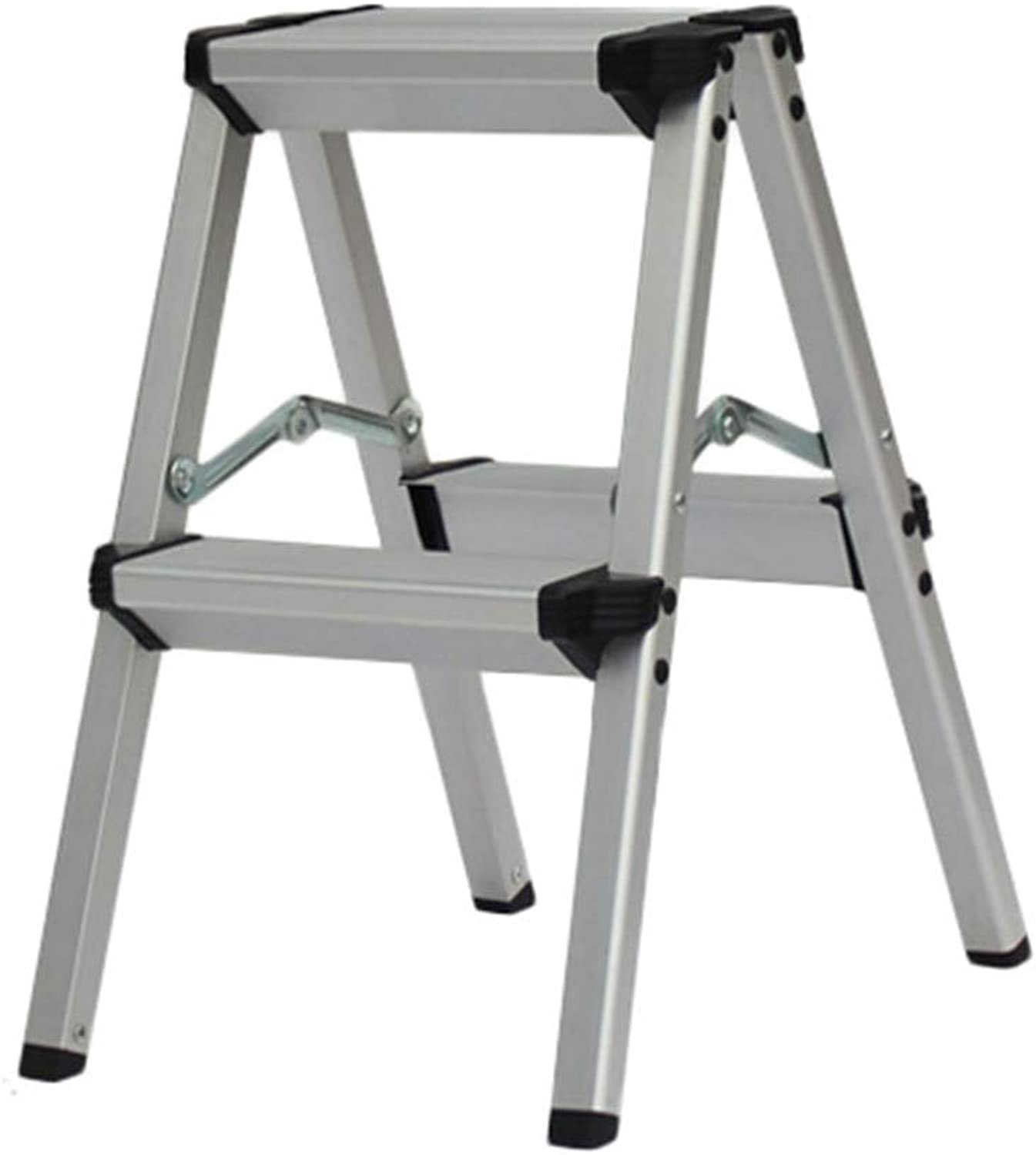 Portable Ladder Stool 3-Step Stools Easy to Store Foldable Design Ideal for Home Kitchen Garage (color   Black, Size   2 Steps)