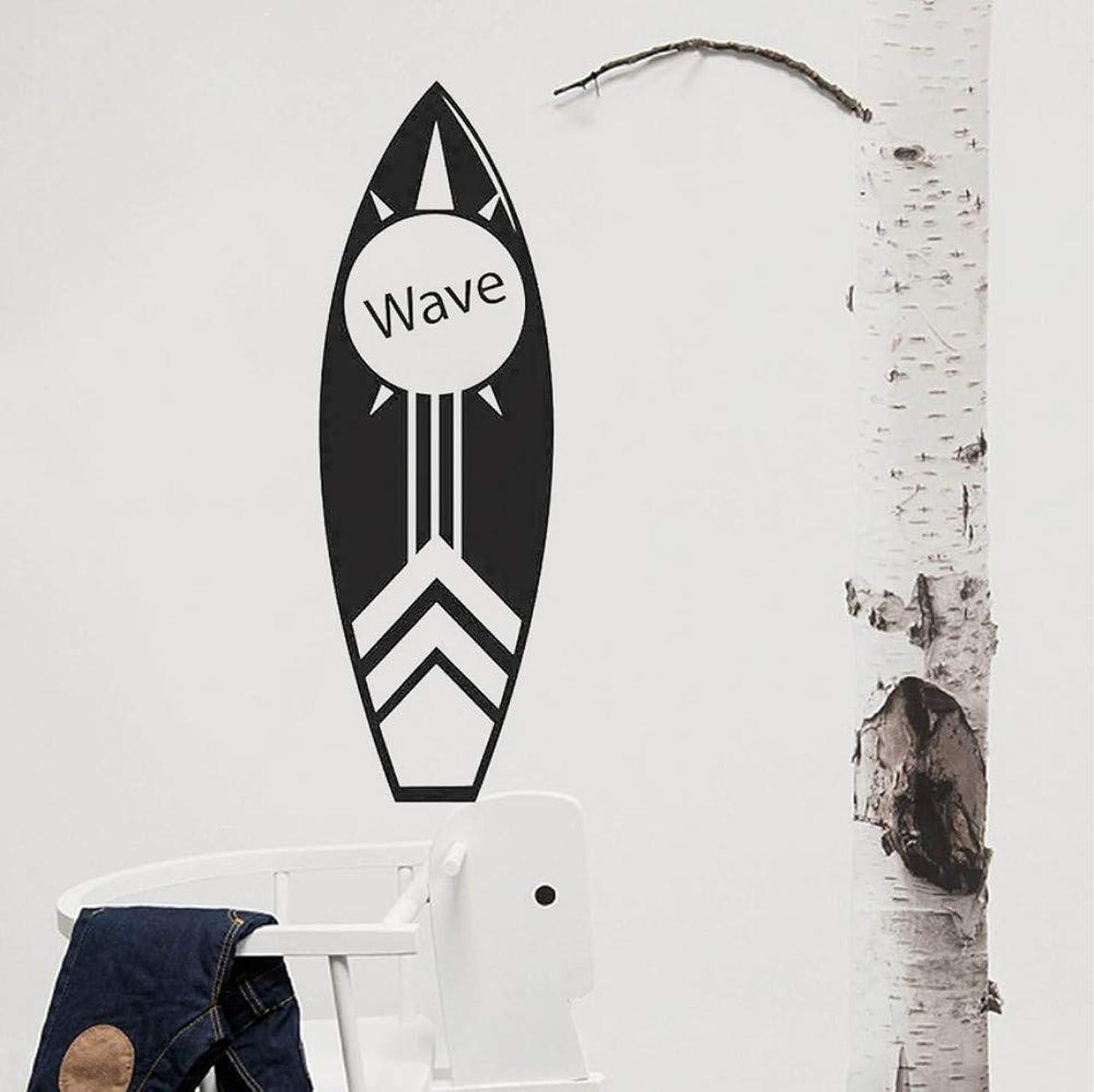 大声で君主制ネクタイAnsyny サーフボードウォールアートデカール沿岸ビーチの装飾サーフィンサーフボードウォールステッカートロピカルウォータースポーツビニール壁19 * 57センチ