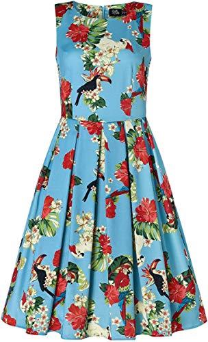 Dolly and Dotty Damen Kleid Annie Parrot Tukan Swing Dress Blau XL