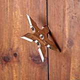 XIQUE Ninja Star Wall Hanger Coat Decorative Hook Creative Ninja Darts Decorative Metal Hooks for Clothes Wall Coat Hanger