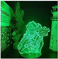 3Dイリュージョンナイトライト 映画アニメーションの主人公 キッズ3Dナイトライトベッドサイドランプおもちゃライト7色変更コントロール男の子のための最高のクリスマスと誕生日プレゼント子供