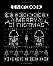 Notebook: nottingham forest christmas sweater for fans  College Ruled - 50 sheets, 100 pages - 8 x 10 inches
