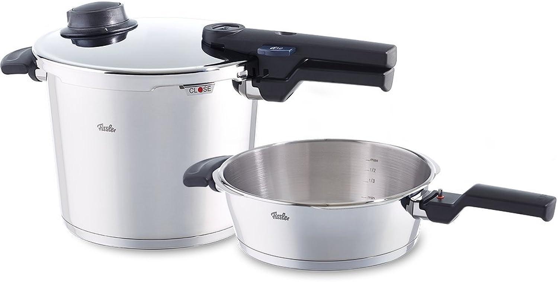 minoristas en línea Fissler 610-300-12-000 0 Vitavit Comfort - Juego Juego Juego de batería de Cocina de 2 Piezas (2,5 y 6 L)  ganancia cero