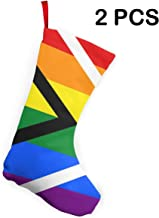 Butymeiyi Gay Pride Flag of South Africa 2 Pieces Classic Christmas Stockings Personalized Christmas Stocking Xmas Fireplace