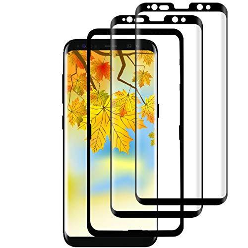XXUYH S8 Cristal Templado (2 Piezas) (con Kit de Instalación), S8 Protector Pantalla, 3D Cobertura Completa/ 9H Dureza/Sin Burbujas Protector de Pantalla para Samsung Galaxy S8