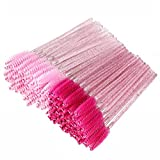 200 Disposable Eyelash Brush Mascara Wands Spoolies for Eye Lashes Extension Eyebrow Purple Pink Tbestmax