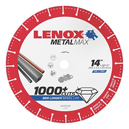 LENOX Tools METALMAX Cut Off Wheel, Diamond Edge, 14-Inch x 1-Inch (1972932)