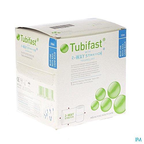 Tubifast Blue Line Elastisches Viskoseband für Verbandsrückung, elastisch, 7,5 x 5 m, Blau