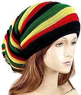 bcf71ce8b7a EchoMerx Reggae Baggie Beanie Hat Rasta