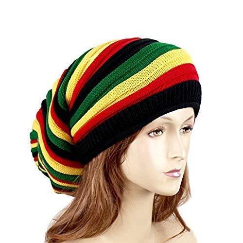 6c45b148379 EchoMerx Reggae Baggie Beanie Hat Rasta